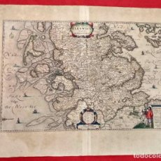 Arte: DUCATUS SLESWICI PARS MERIDIONALIS. IOHANNES MEJERUS (JOHANNES MEJER). SCHLESWIG. CIRCA 1660. Lote 185996183