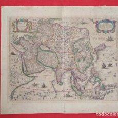 Arte: ASIA RECENS SUMMA CURA DELINEATA. HENRICUS HONDIUS. AMSTERDAM, 1631. REVERSO EN LATÍN. Lote 186002526
