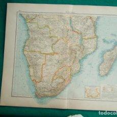 Arte: MAPA DE AFRICA MERIDIONAL-MADAGASCAR-KENIA-MOZAMBIQUE-CONGO-ANGOLA-SÜDAFRIKA-ZAMBIA-UGANDA...-1899. . Lote 186127541