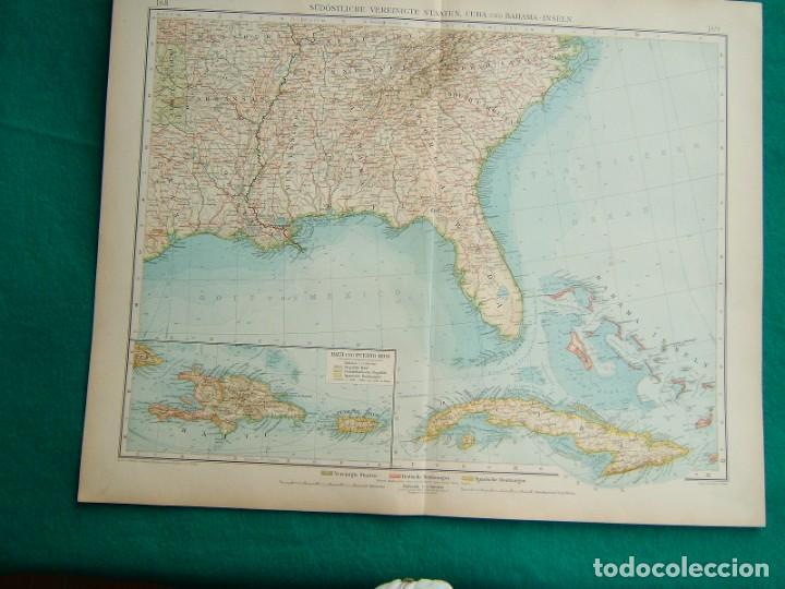 MAPA DEL SUR DE ESTADOS UNIDOS-HAITI-PUERTO RICO-REPUBLICA DOMINICANA-CUBA-CAYOS-FLORIDA-1899. (Arte - Cartografía Antigua (hasta S. XIX))