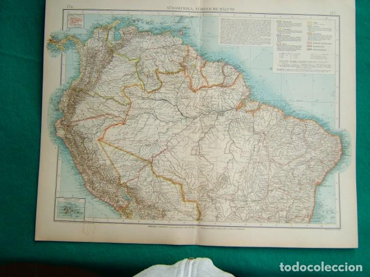 MAPA DE SUDAMERICA-PANAMA-COLOMBIA-VENEZUELA-BRASIL-PERU-ECUADOR-BOLIVIA-GALAPAGOS-1899. (Arte - Cartografía Antigua (hasta S. XIX))