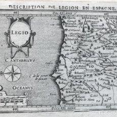 Arte: MAPA DE ASTURIAS, CANTABRIA Y LEÓN (ESPAÑA), 1618. BERTIUS/HONDIUS. Lote 186132173