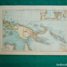 Arte: MAPA DE NUEVA GUINEA-NEUGUINEA UND DER BISMARCKARCHIPEL-ISLAS SALOMON-ARCHIPIELAGO BISMARCK-1899. . Lote 186133078