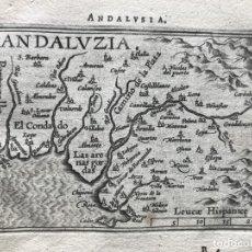 Arte: MAPA DE LA PARTE OCCIDENTAL DE ANDALUCÍA (ESPAÑA), 1603. A. ORTELIUS. Lote 186135257