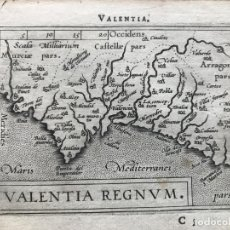 Arte: MAPA DE VALENCIA, 1589. A. ORTELIUS/GALLE. Lote 186136951