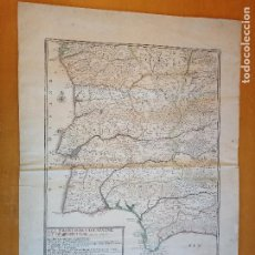 Arte: LES FRONTIERES D'ESPAGNE ET DE PORTUGAL… PAR N. DE FER ...; GRAVÉE PAR P. STARCKMAN 1705. Lote 186337173