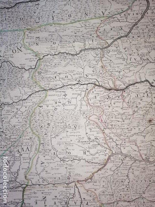 Arte: Les frontieres dEspagne et de Portugal… par N. de Fer ...; gravée par P. Starckman 1705 - Foto 5 - 186337173