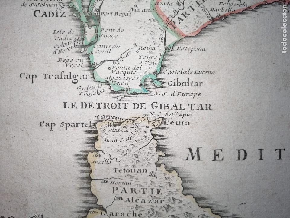 Arte: Les frontieres dEspagne et de Portugal… par N. de Fer ...; gravée par P. Starckman 1705 - Foto 8 - 186337173