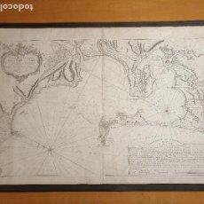 Arte: CARTE HYDROGRAPHIQUE DE LA BAYE DE CADIX… PAR LE S. BELLIN INGENIEUR DE LA MARINE. 1762. Lote 186337470