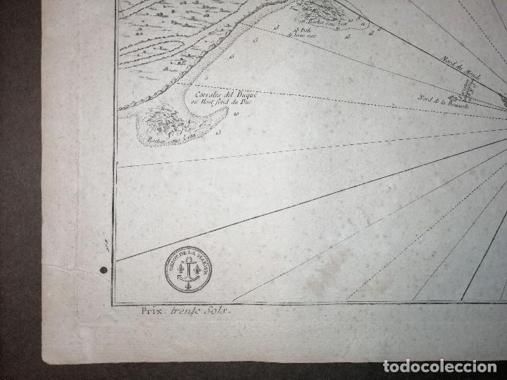 Arte: Carte Hydrographique de la Baye de Cadix… par le S. Bellin Ingenieur de la Marine. 1762 - Foto 3 - 186337470