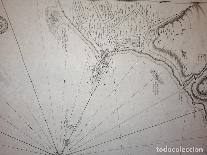 Arte: Carte Hydrographique de la Baye de Cadix… par le S. Bellin Ingenieur de la Marine. 1762 - Foto 5 - 186337470