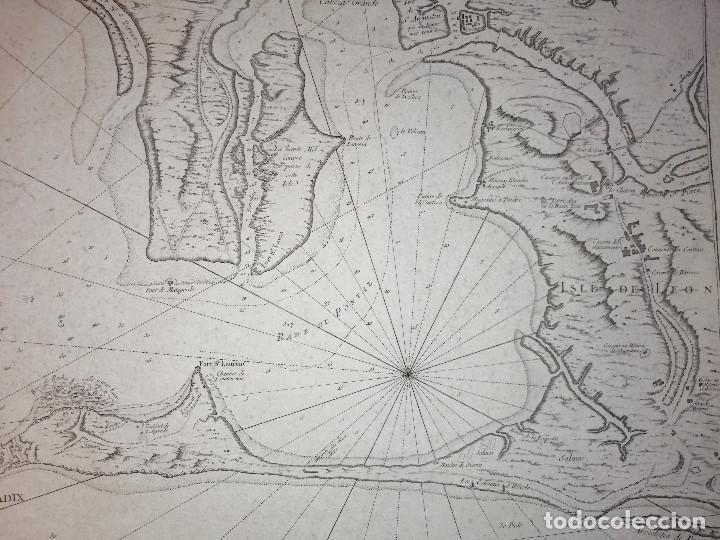 Arte: Carte Hydrographique de la Baye de Cadix… par le S. Bellin Ingenieur de la Marine. 1762 - Foto 6 - 186337470