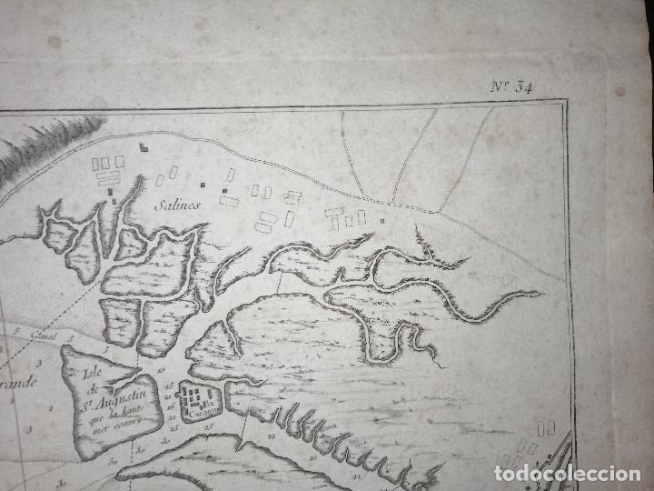 Arte: Carte Hydrographique de la Baye de Cadix… par le S. Bellin Ingenieur de la Marine. 1762 - Foto 7 - 186337470