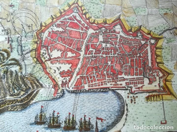 Arte: MAPA GRABADO BARCELONA ASEDIO 1706 - BRAKEL - GUERRA DE SUCESION - Foto 2 - 186401653