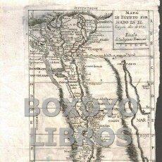 Art: MAPA SIGLO XVIII. MAPA DEL EGYPTO FORMADO EN EL CAYRO, AÑO DE 1715. ESCALA DE 30 LEGUAS FRANCESAS. Lote 186471333