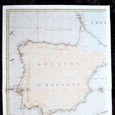 Arte: LAS COSTAS ESPAÑOLAS, PORTUGUESAS Y NORTE DE ÁFRICA. ESPAÑA. PENÍNSULA IBÉRICA. ROYAUME D'ESPAGNE.. Lote 187091236