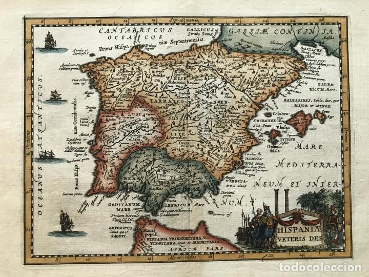 MAPA DE ESPAÑA Y PORTUGAL ANTIGUOS, 1660. P. CLUVERIUS (Arte - Cartografía Antigua (hasta S. XIX))
