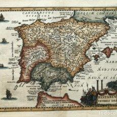 Arte: MAPA DE ESPAÑA Y PORTUGAL ANTIGUOS, 1660. P. CLUVERIUS. Lote 187179551