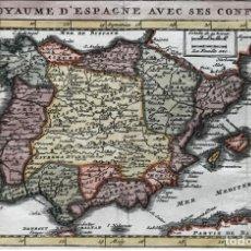 Arte: MAPA DE PORTUGAL Y ESPAÑA Y SUS ANTIGUOS ESCUDOS, CA. 1700. DE LA FEUILLE. Lote 187199140