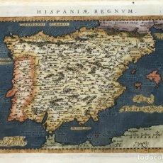 Arte: MAPA DE ESPAÑA Y PORTUGAL, 1596. PTOLOMEO/MAGINI/KARERA/PORRO. Lote 187205547