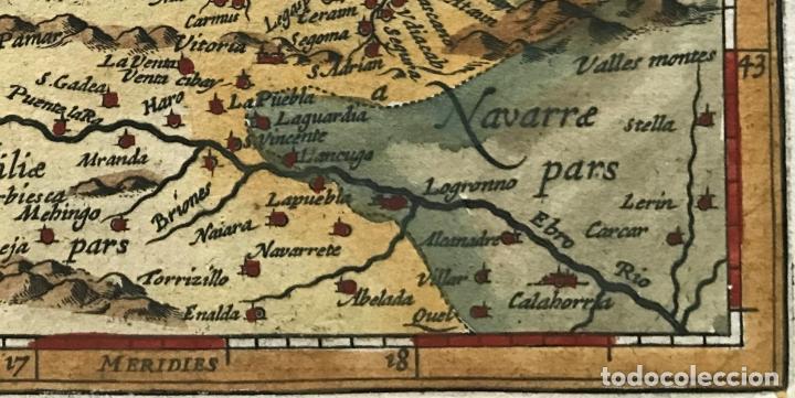 Arte: Mapa de Santander y Vizcaya (España), 1620. Merula/Hondius/Kaerius - Foto 5 - 188402841