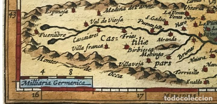 Arte: Mapa de Santander y Vizcaya (España), 1620. Merula/Hondius/Kaerius - Foto 6 - 188402841