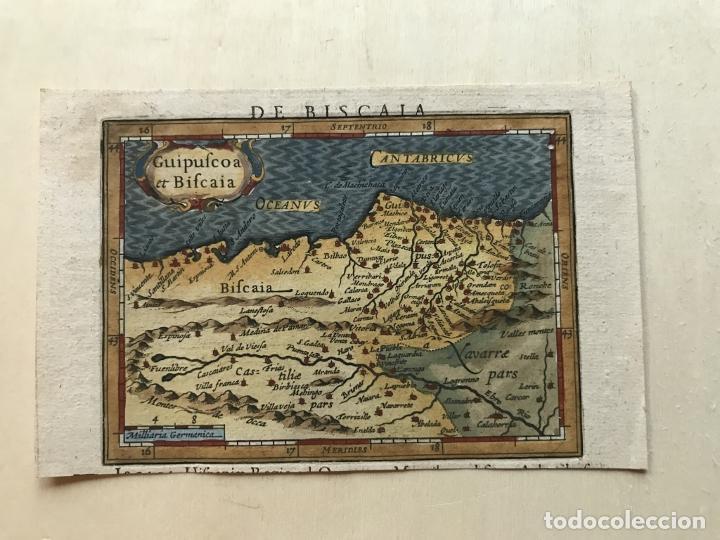 Arte: Mapa de Santander y Vizcaya (España), 1620. Merula/Hondius/Kaerius - Foto 8 - 188402841