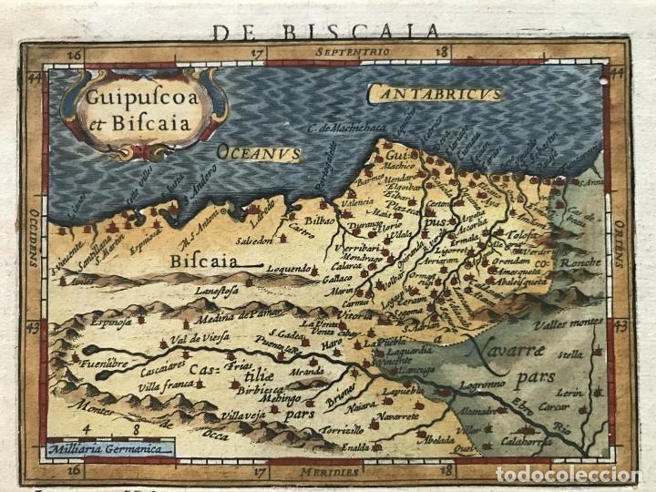 MAPA DE SANTANDER Y VIZCAYA (ESPAÑA), 1620. MERULA/HONDIUS/KAERIUS (Arte - Cartografía Antigua (hasta S. XIX))