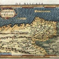 Arte: MAPA DE SANTANDER Y VIZCAYA (ESPAÑA), 1620. MERULA/HONDIUS/KAERIUS. Lote 188402841