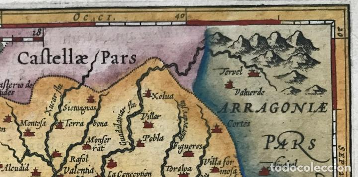 Arte: Mapa de Valencia, 1620. Merula/Hondius/Kaerius - Foto 3 - 188414081