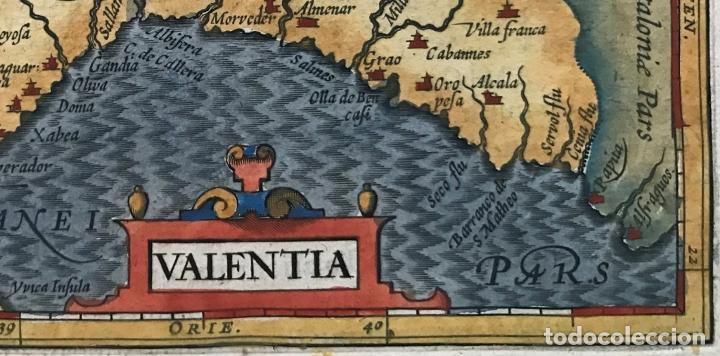 Arte: Mapa de Valencia, 1620. Merula/Hondius/Kaerius - Foto 4 - 188414081