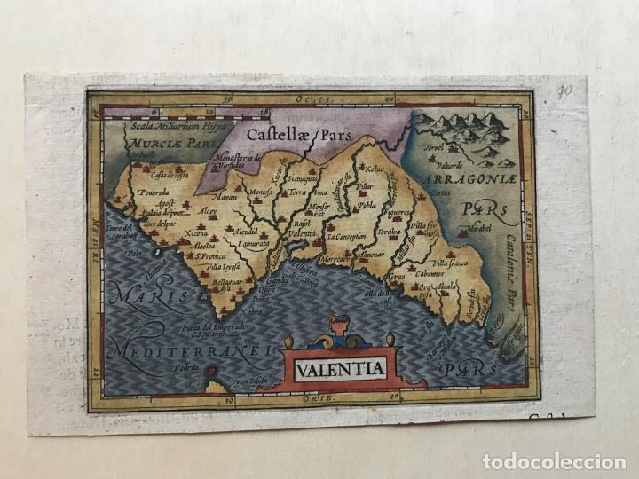 Arte: Mapa de Valencia, 1620. Merula/Hondius/Kaerius - Foto 7 - 188414081