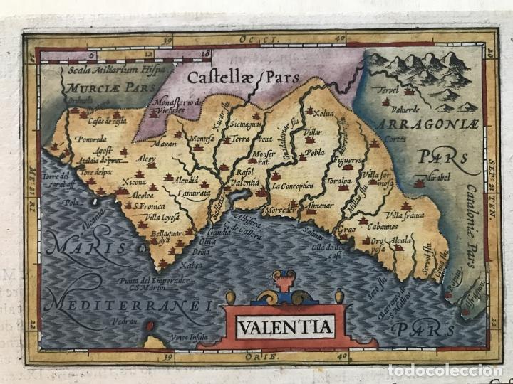 MAPA DE VALENCIA, 1620. MERULA/HONDIUS/KAERIUS (Arte - Cartografía Antigua (hasta S. XIX))