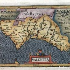 Arte: MAPA DE VALENCIA, 1620. MERULA/HONDIUS/KAERIUS. Lote 188414081