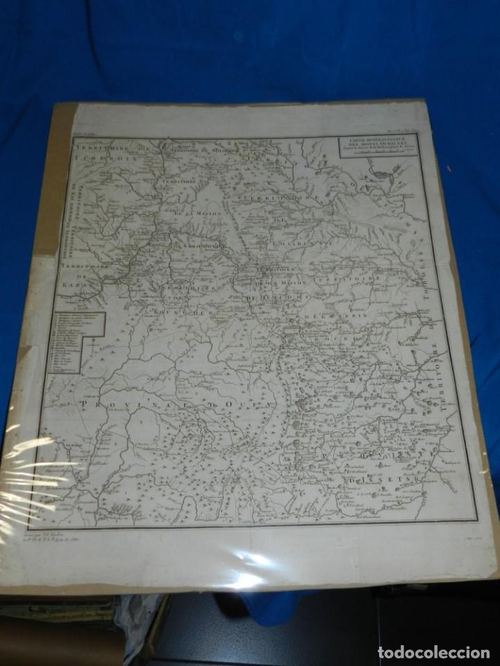 Arte: (M) MAPA CARTE MINERALOGIQUE DES MONTS OURALSKS, VOYAGE PALLAS, FINALES S.XVIII - Foto 2 - 188671016