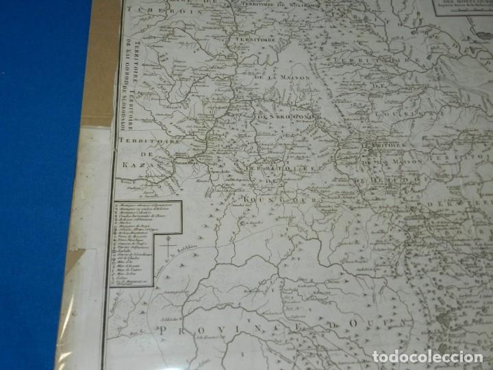 Arte: (M) MAPA CARTE MINERALOGIQUE DES MONTS OURALSKS, VOYAGE PALLAS, FINALES S.XVIII - Foto 4 - 188671016