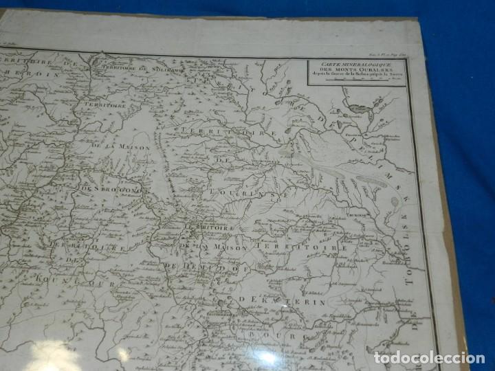 Arte: (M) MAPA CARTE MINERALOGIQUE DES MONTS OURALSKS, VOYAGE PALLAS, FINALES S.XVIII - Foto 6 - 188671016