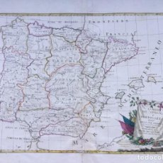 Arte: MAPA DE ESPAÑA Y PORTUGAL - ZATTA - AÑO 1775. Lote 188722586