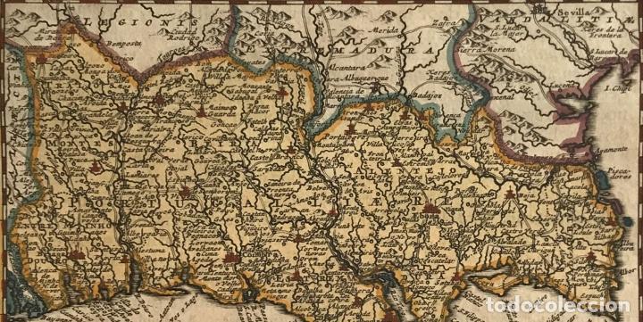 Arte: Mapa de Portugal, 1707. P. van der Aa - Foto 2 - 188758753