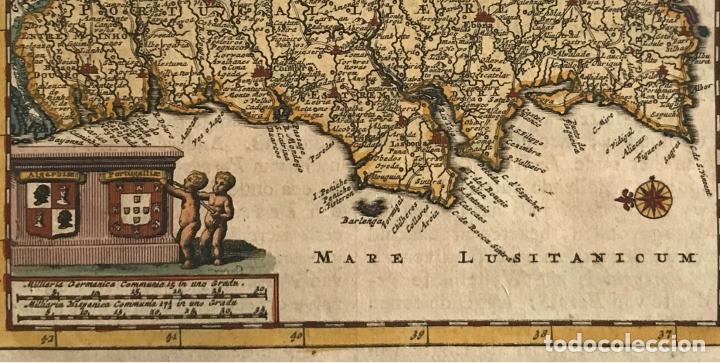 Arte: Mapa de Portugal, 1707. P. van der Aa - Foto 3 - 188758753
