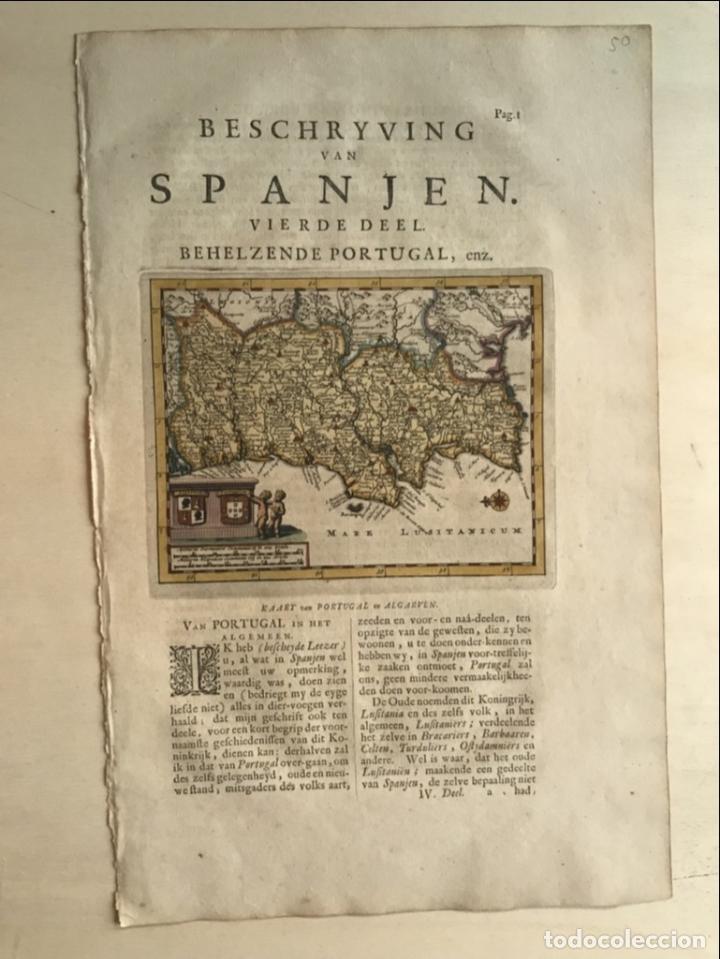 Arte: Mapa de Portugal, 1707. P. van der Aa - Foto 6 - 188758753