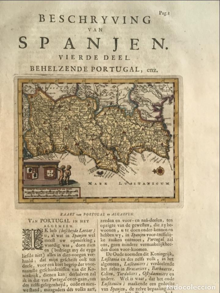 Arte: Mapa de Portugal, 1707. P. van der Aa - Foto 7 - 188758753
