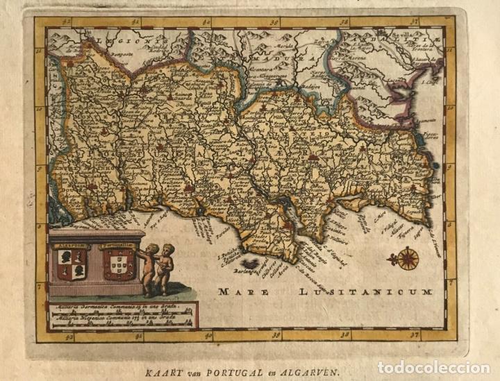 MAPA DE PORTUGAL, 1707. P. VAN DER AA (Arte - Cartografía Antigua (hasta S. XIX))