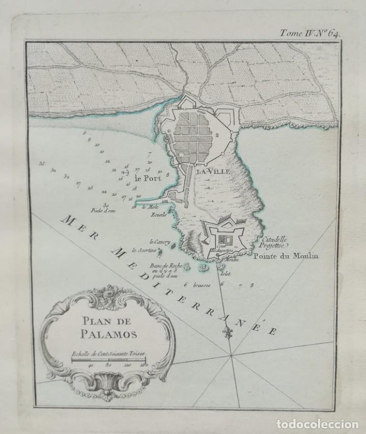 MAPA DE PALAMOS - J. BELLIN - AÑO 1764 (Arte - Cartografía Antigua (hasta S. XIX))
