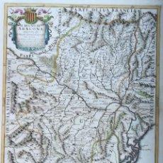 Arte: MAPA DE ARAGON - CANTELLI - AÑO 1696. Lote 189194665