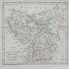 Arte: MAPA DE POLONIA - TOMAS LOPEZ - AÑO 1792. Lote 189241166