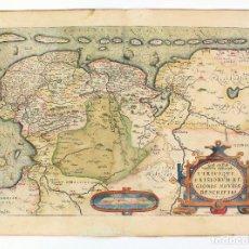 Arte: MAPA DE LA PROVINCIA DE FRISIA, PAISES BAJOS, 1605, EN LATÍN, COLOREADO, A. ORTELIUS. 56X41,5CM. Lote 189326608