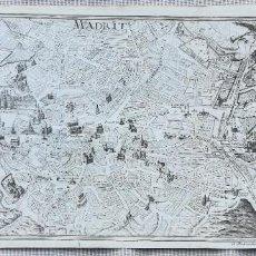Arte: MAPA PLANO DE MADRID - BODENEHR - AÑO 1715. Lote 189393453