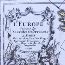 Arte: MAPA DE EUROPA - AÑO 1746 - LA ROUGE. Lote 189394172