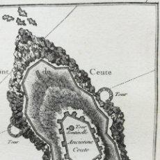 Arte: MAPA PLANO DE CEUTA- AÑO 1764 - BELLIN. Lote 189394866